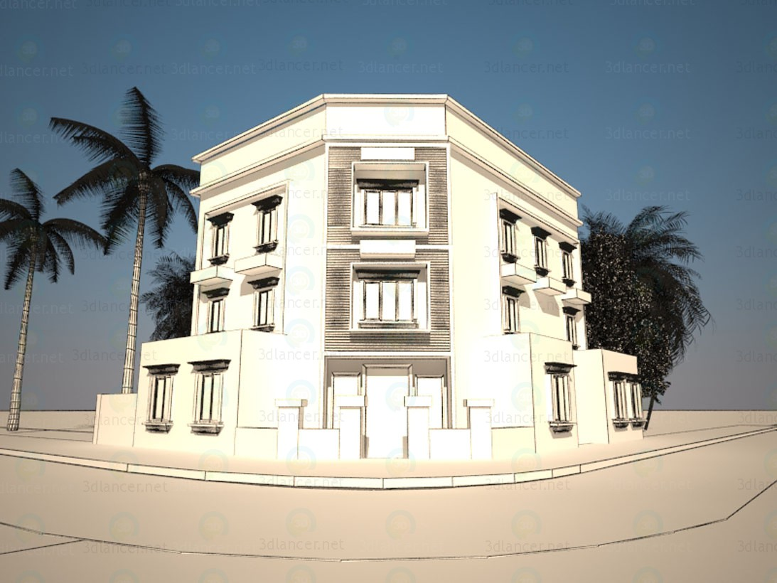 3d model exterior building design for Exterior 3d model