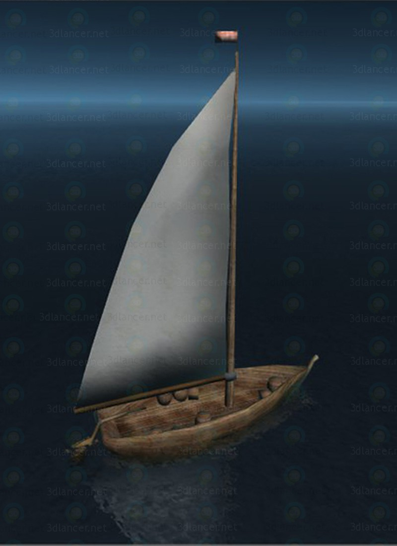 3d Fishing boat LP модель купить - ракурс