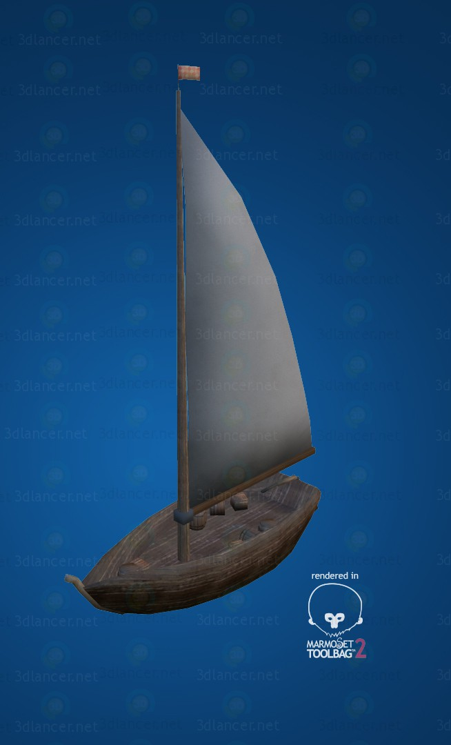 3d Fishing boat LP model buy - render