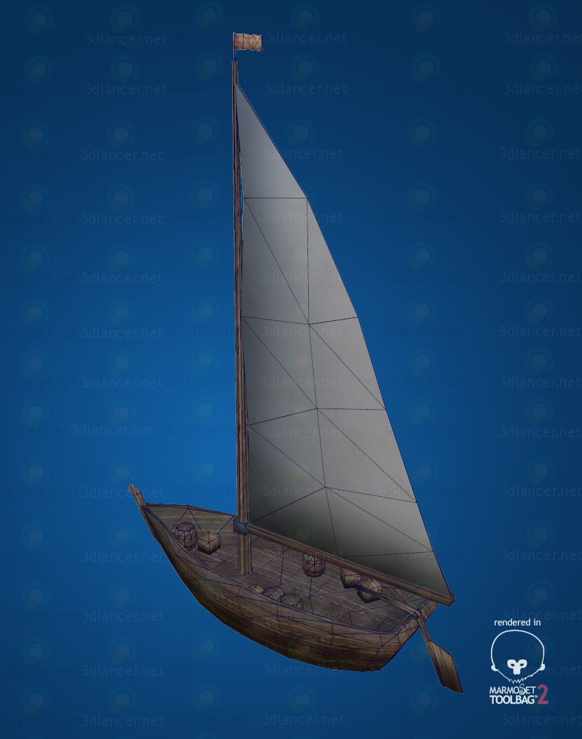 3d Fishing boat LP model buy - render