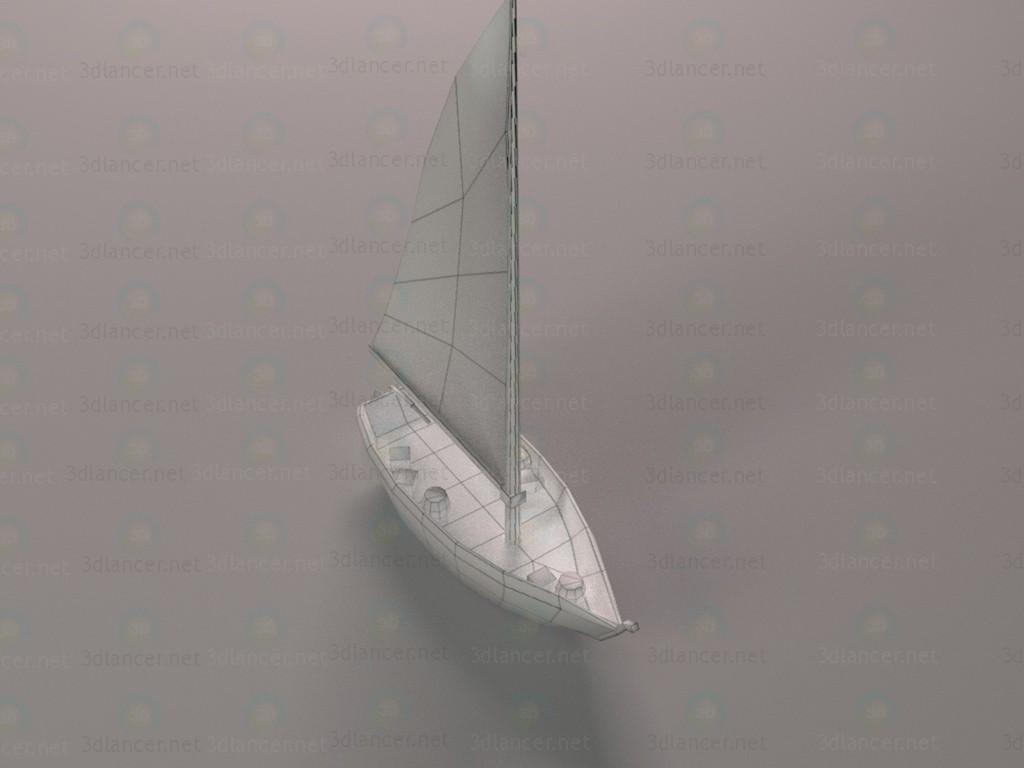 LP barco de pesca 3D modelo Compro - render