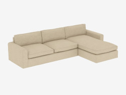 Modular Corner Sofa UPHOLSTERED SECTIONAL RAF