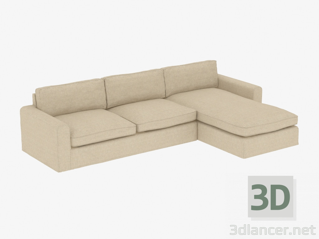 Fantastic 3D Model Modular Corner Sofa Upholstered Sectional Raf Machost Co Dining Chair Design Ideas Machostcouk