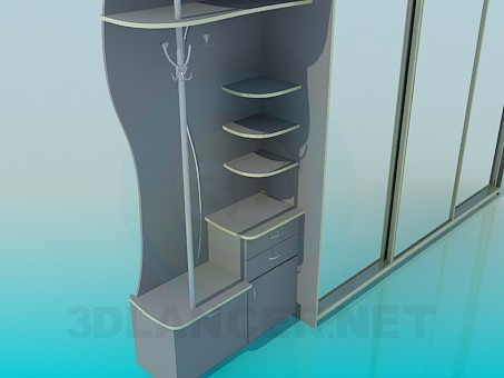 3d model Closet in the hallway - preview