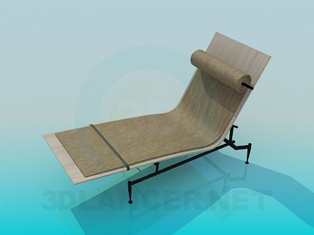 3d model Cot with bedding - preview