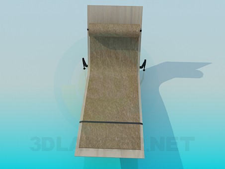 3d модель Топчан с подстилкой – превью
