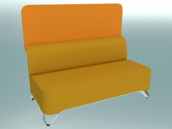 Double sofa without armrests, with screen (2BW)
