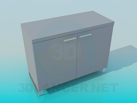 3d model Stand with doors - preview