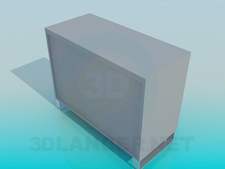 modelo 3D De pie con puertas - escuchar