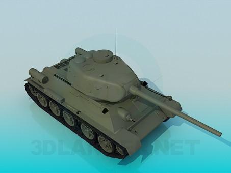 3d model T-34-85 - preview