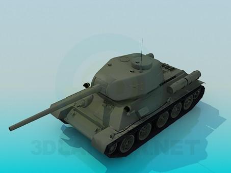 3d модель Т-34-85 – превью