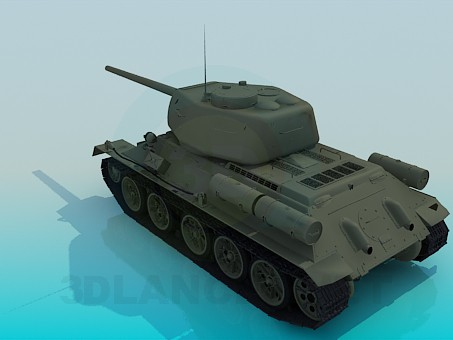 modelo 3D T-34-85 - escuchar