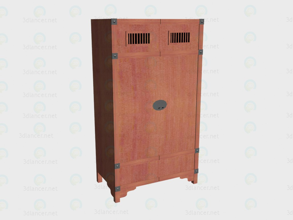 3d model Wardrobe 2-door - preview