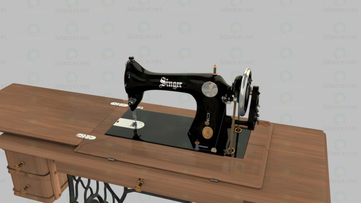 3d model Sewing Machine Singer - preview