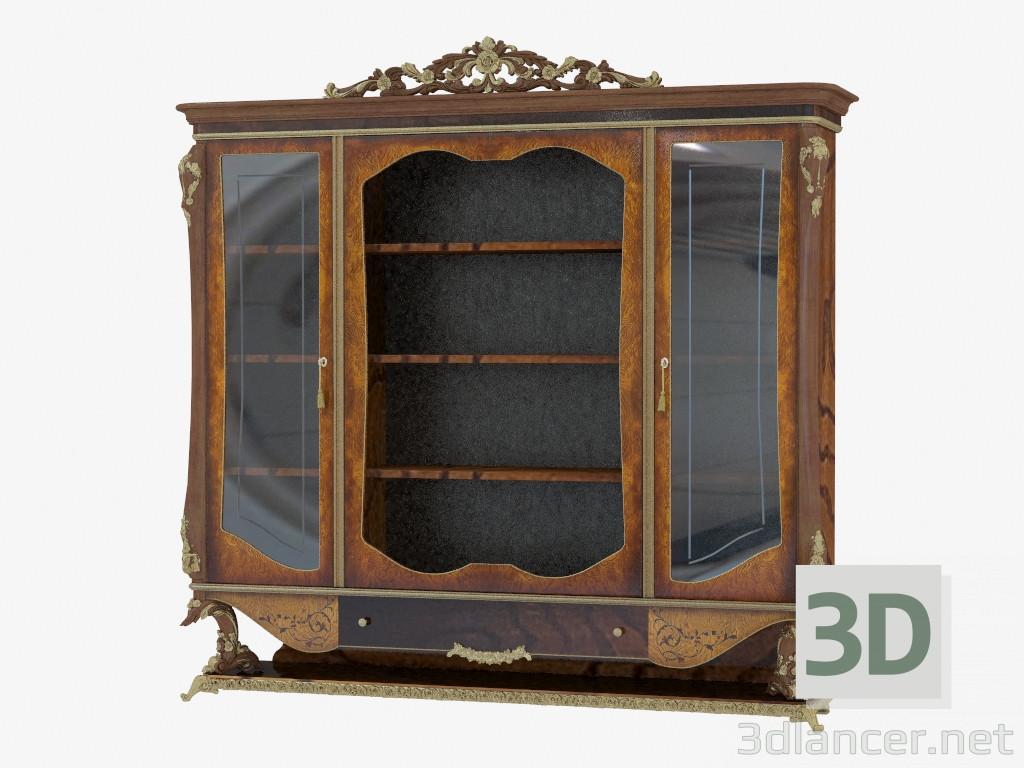 3d модель Шкаф книжный в классическом стиле 207 – превью