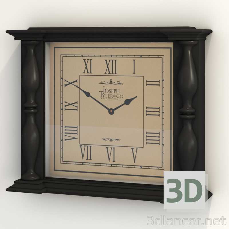 3d Clock model buy - render