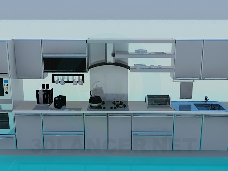3d model Kitchen, a full set of items - preview