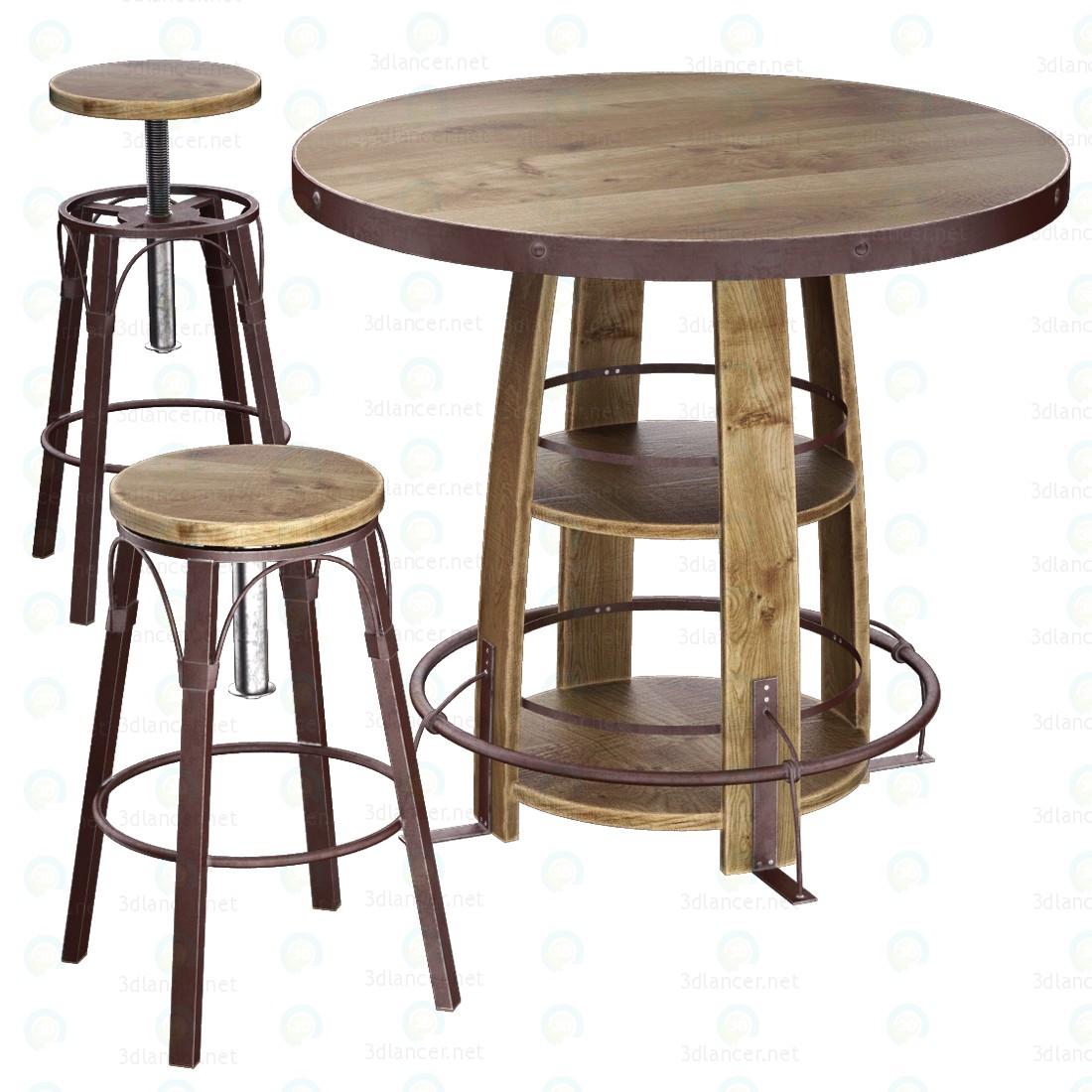 3d Bayshore Pub Table Set модель купити - зображення