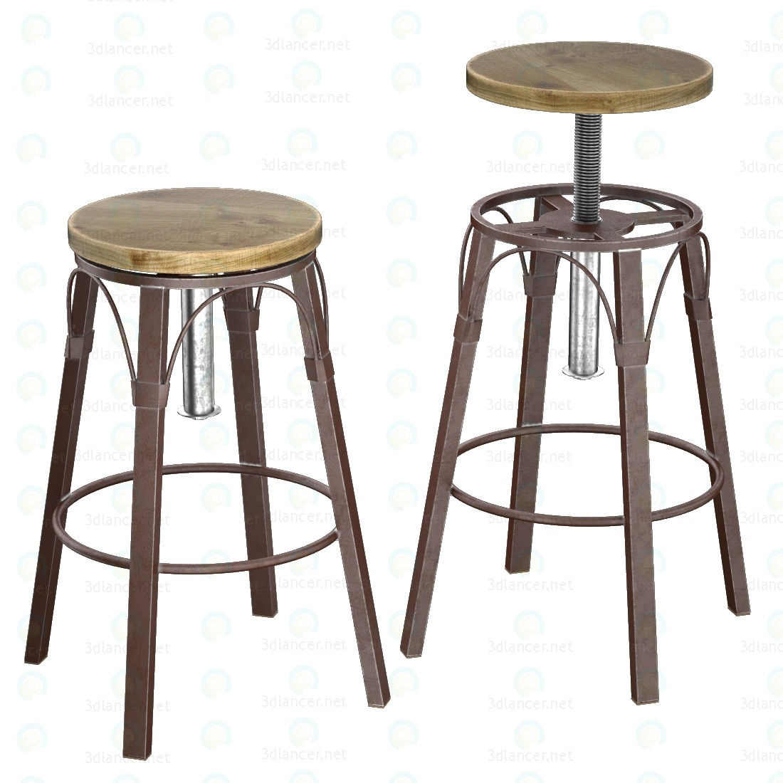 Conjunto de mesa de Bayshore Pub 3D modelo Compro - render