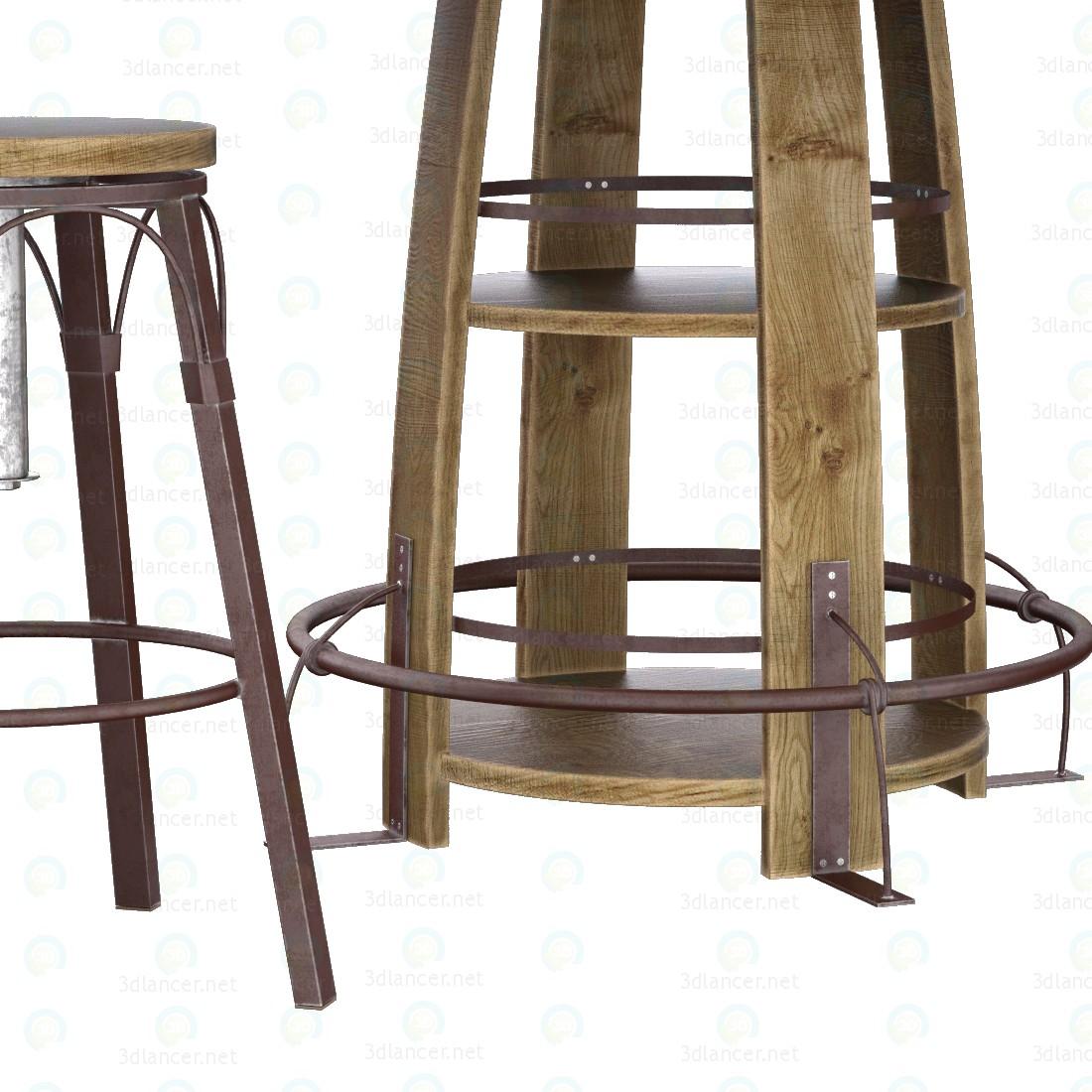 3d Комплект стол и стул для паба модель купить - ракурс