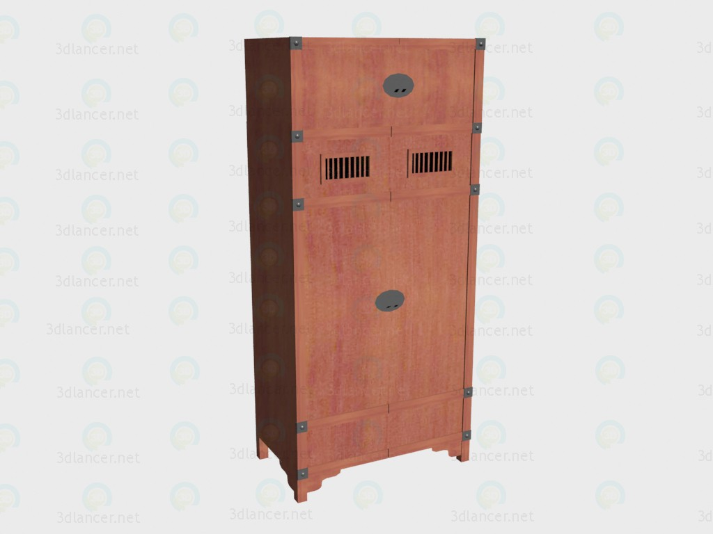 3d model Wardrobe 2-door with an extension - preview