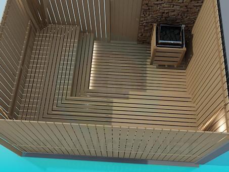 3d modeling Wooden sauna model free download