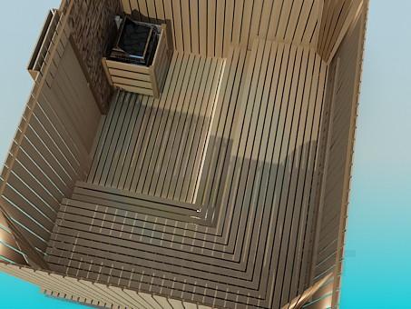 3d модель Деревянная сауна – превью
