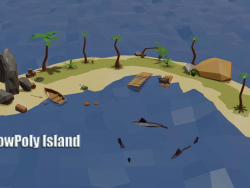 Game Set Island / Game Asset Island (LowPoly)