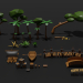 3d Game Set Island / Game Asset Island (LowPoly) model buy - render
