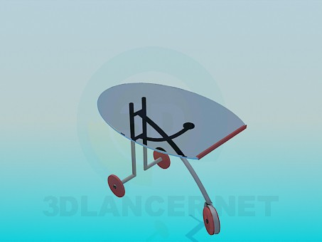 3d модель Трехколесный столик – превью