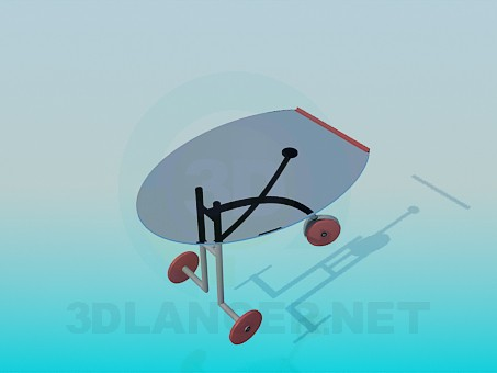 3d model Three-wheeled table - preview