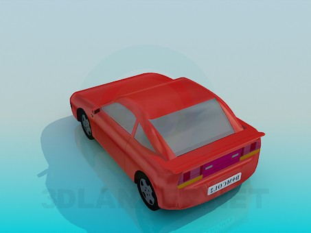 modelo 3D Coche de los deportes - escuchar