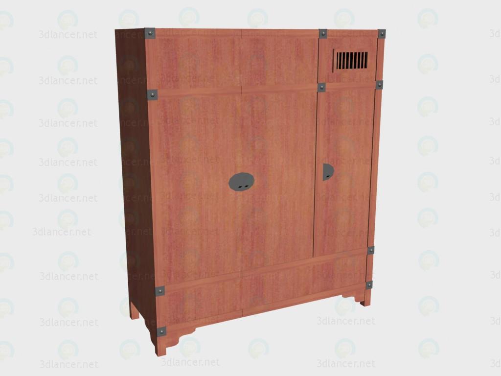 3d модель Шкаф 3-дверный – превью