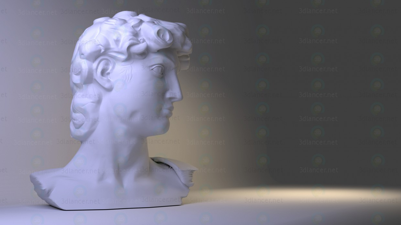 3d modeling David. Bust model free download