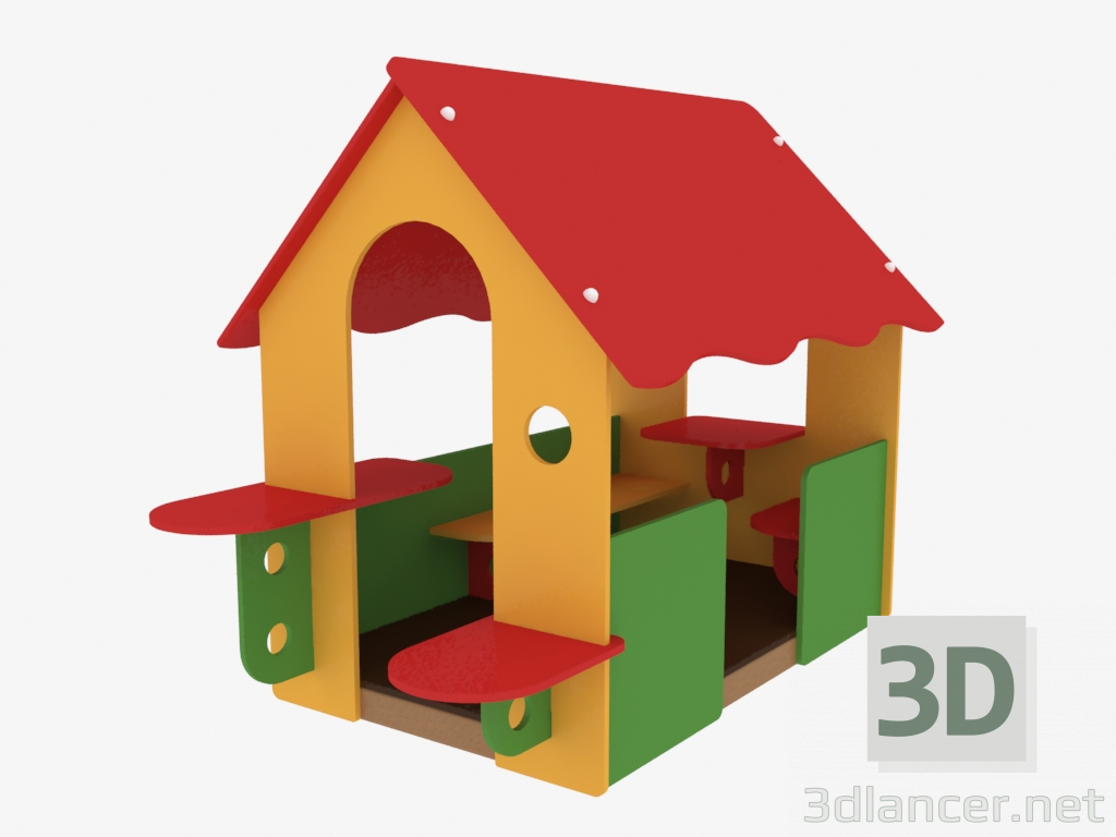 3d model Children's playhouse (5004),Наш двор max(2014