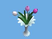 Vase aux tulipes
