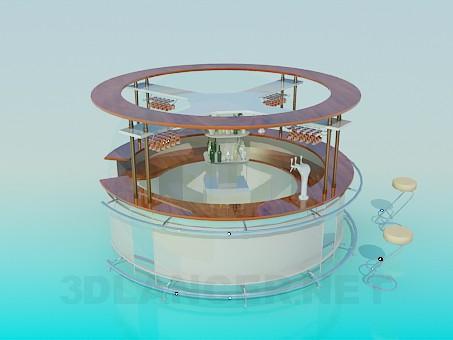 3d model Barra redonda - vista previa