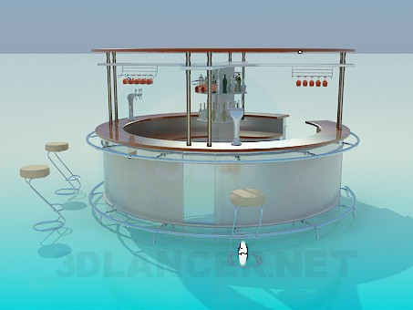 modelo 3D Barra redonda - escuchar