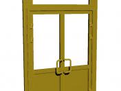 Plastic entrance door
