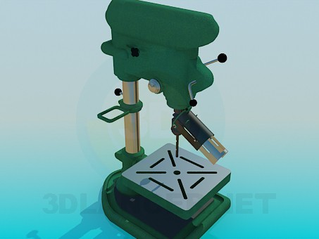 3d modeling Drilling machine model free download