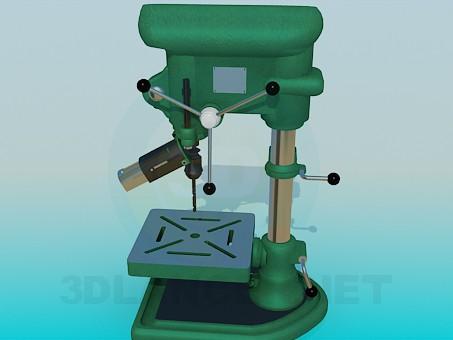 modelo 3D Máquina de perforación - escuchar