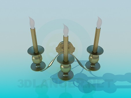 3d modeling Sconces in the form of candles model free download
