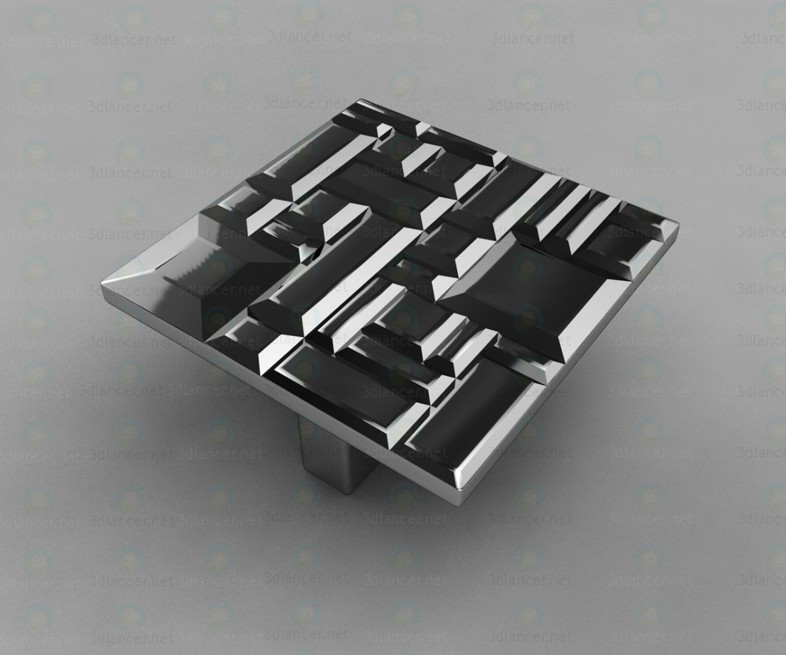 3d модель Ручка-кнопка квадратная модерн 467032MP02, глянцевый хром 32 мм – превью
