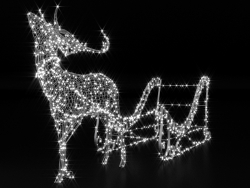 "Light volumetric figure ""Deer and sleigh."""