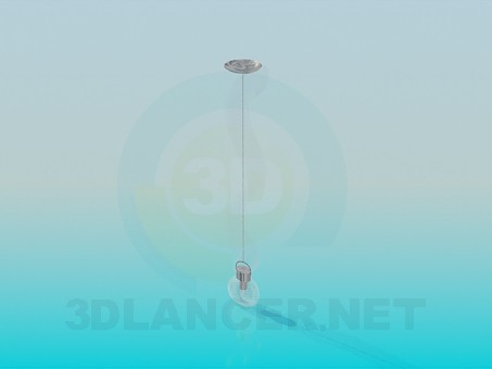 3d моделирование Одиночный светильник модель скачать бесплатно