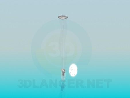 3d модель Одиночный светильник – превью