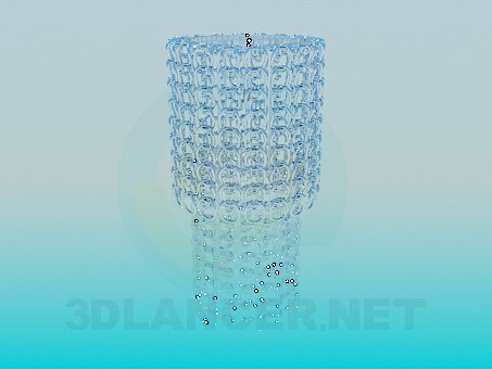 3d modeling Chandelier with glass rings model free download