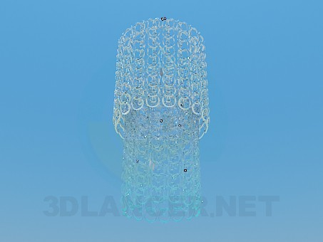 3d model Chandelier with glass rings - preview