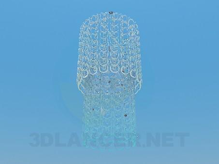 3d модель Люстра со стеклянными колечками – превью