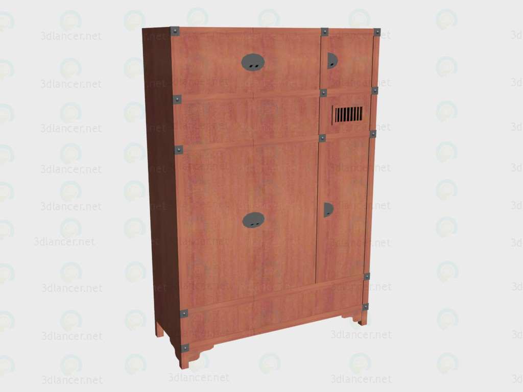 3d model Wardrobe 3-door with an extension VOX - preview
